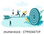 businessmen running to the goal....   Shutterstock . vector #1794266719