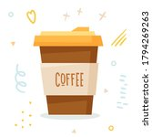offee cup. disposable plastic... | Shutterstock .eps vector #1794269263