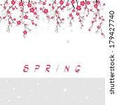 cherry blossom branch banner.... | Shutterstock .eps vector #179427740