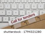 Call For Tenders Written On...
