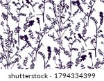 floral seamless pattern with... | Shutterstock .eps vector #1794334399