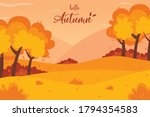 Autumn Landscape Background....