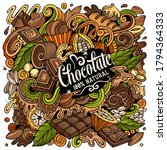 chocolate hand drawn vector... | Shutterstock .eps vector #1794364333