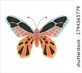 elegant exotic butterfly on an... | Shutterstock .eps vector #1794365779
