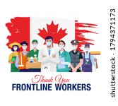 thank you frontline workers.... | Shutterstock .eps vector #1794371173