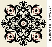 baroque floral decoration | Shutterstock .eps vector #17943817