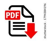 pdf document download vector... | Shutterstock .eps vector #1794384196
