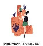 climbing people  trekking ...   Shutterstock .eps vector #1794387109