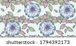 flowers and leaves vector... | Shutterstock .eps vector #1794392173