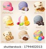 set of cartoon icons. ice cream ... | Shutterstock . vector #1794402013