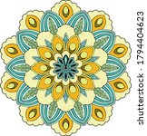 colorful mandala background... | Shutterstock .eps vector #1794404623