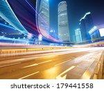 the light trails on the modern... | Shutterstock . vector #179441558
