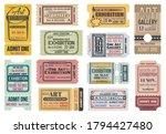 art gallery  exhibition tickets ... | Shutterstock .eps vector #1794427480