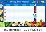 weekly meal planner  vector... | Shutterstock .eps vector #1794427519
