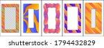 set of colored trendy gradient... | Shutterstock .eps vector #1794432829
