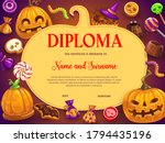 Kids Diploma With Halloween...