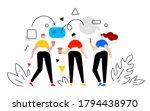 vector business illustration of ... | Shutterstock .eps vector #1794438970