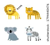 Set Of Cute Cartoon Animals....