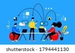 vector business concept... | Shutterstock .eps vector #1794441130