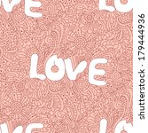 seamless love texture with... | Shutterstock .eps vector #179444936