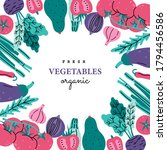 fresh vegetables pink and green ... | Shutterstock .eps vector #1794456586