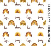 seamless pattern of hand drawn... | Shutterstock .eps vector #1794470569