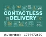 contactless delivery word...