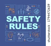 safety rules word concepts...