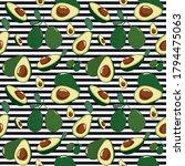 avocado seamless pattern for... | Shutterstock .eps vector #1794475063