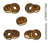 donut set. collection icons... | Shutterstock .eps vector #1794477760