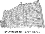 architecture. sketch. drawing... | Shutterstock .eps vector #179448713