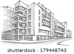 architecture. sketch. drawing... | Shutterstock .eps vector #179448743