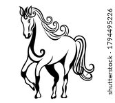hand drawn decorative horse for ... | Shutterstock .eps vector #1794495226