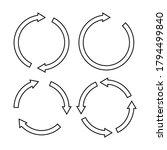 set of black circle vector... | Shutterstock .eps vector #1794499840