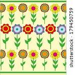 children background of flowers.... | Shutterstock .eps vector #179450759