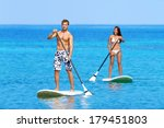 Paddleboard Beach People On...