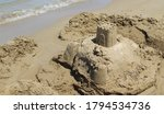 Sand Castle By The Sea In...