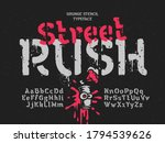 grunge vector font with...   Shutterstock .eps vector #1794539626