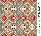 ikat geometric folklore... | Shutterstock .eps vector #1794544510