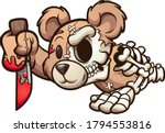 creepy bear crawling and... | Shutterstock .eps vector #1794553816