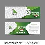 golf cup header   banner design   Shutterstock .eps vector #179455418