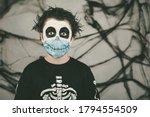 Happy Halloween.close Up Of Kid ...