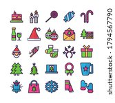 christmas icon set vector flat... | Shutterstock .eps vector #1794567790