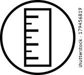 ruler vector icon   Shutterstock .eps vector #179456819