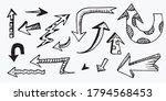 set of arrow doodle on white... | Shutterstock .eps vector #1794568453