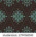 ikat seamless pattern. border... | Shutterstock .eps vector #1794568540