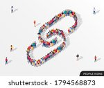 large group of people in the... | Shutterstock .eps vector #1794568873