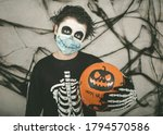 Happy Halloween. Kid Wearing...