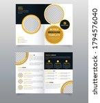 modern business bi fold... | Shutterstock .eps vector #1794576040