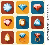 flat diamond icons collection   ... | Shutterstock .eps vector #179457716